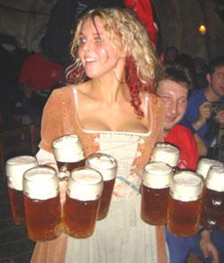 impressive beer wench