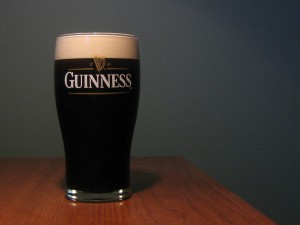 A pint of Guinness Stout