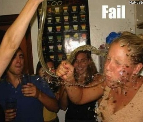 Beer funnel fail
